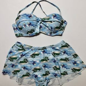 Disney Lilo and Stitch Two Piece Skirted Swimsuit